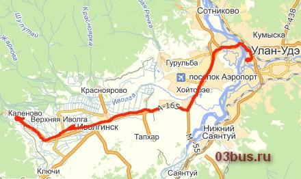 Маршрут № 104 Улан-Удэ - Каленово